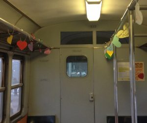 Il tram pieno di cuori